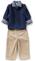 Starting Out Baby Boys 12-24 Months Sweater, Button-Down Shirt, & Pants 3-Piece Set