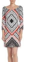 Jessica Simpson Printed Lattice Back Dress