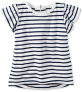 Carter's Flutter-Sleeve Striped T-Shirt, Little Girls (2-6X)