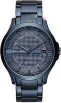 Armani Exchange A|X Men's Hampton Blue-Tone Stainless Steel Bracelet Watch 46mm AX2193
