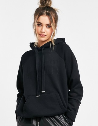 AllSaints co-ord Lucia relaxed hoodie in black