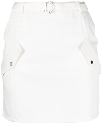 Patrizia Pepe Flat Pockets Fitted Mini Skirt