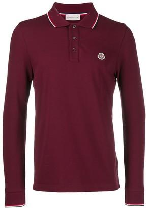 Moncler Logo Long-Sleeve Polo Shirt