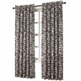 Sun Zero Sun ZeroTM Emory Printed Texture Room-Darkening Rod-Pocket Curtain Panel