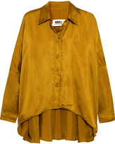 MM6 MAISON MARGIELA Oversized Satin Shirt - Mustard