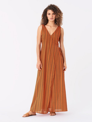 Diane von Furstenberg Grace Cotton Maxi Beach Wrap Dress