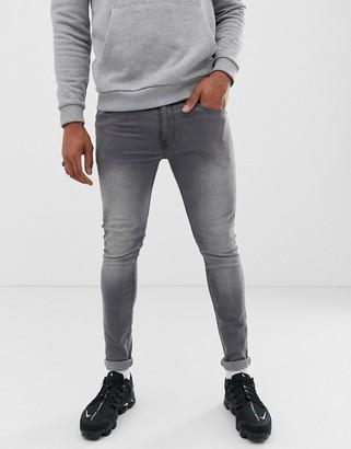 Soul Star skinny jeans in gray