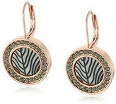 Vince Camuto Engraved Acetate Disc Leverback Drop Earrings