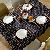 Talecloths American Lattice Cloth Linen Talecloth,Modern Simple Fresh Home Living Room Talecloth