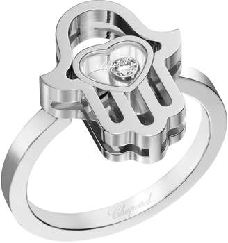 Chopard White Gold Happy Diamonds Good Luck Charms Ring