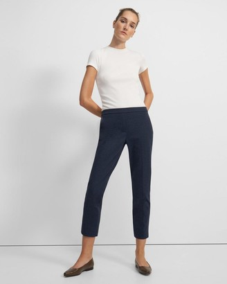 Theory Treeca Pull-On Pant in Stretch Knit Denim