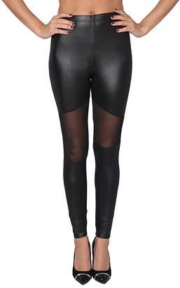 Isadora Women's Leggings - Black Mesh-Panel Leggings - Women