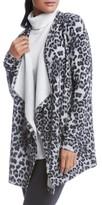 Karen Kane Women's Leopard Print Fleece Cardigan