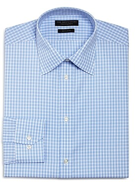 The Men's Store at Bloomingdale's Cross Check Regular Fit Dress Shirt - 100% Exclusive
