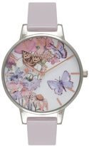 Olivia Burton **painterly prints grey lilac watch
