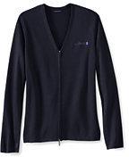 Classic Women's Petite Performance Zip Cardigan Sweater-Loganberry