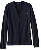 Lands' End Women's Plus Size Performance Zip Cardigan Sweater-True Navy
