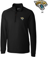 Cutter & Buck Men's Jacksonville Jaguars 3D Emblem Jackson Overknit Quarter-Zip Pullover