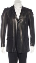 Calvin Klein Collection Leather Sport Coat