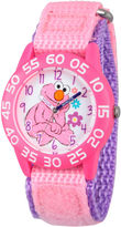 Sesame Street Pink And White Elmo Time Teacher Strap Watch W003210