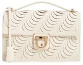 Salvatore Ferragamo Medium Aileen Leather Shoulder Bag - White
