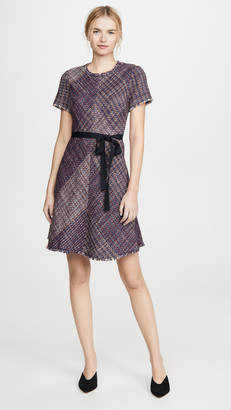 Rebecca Taylor Short Sleeve Blanket Tweed Dress