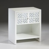 The Well Appointed House White Lacquer One Drawer End Table