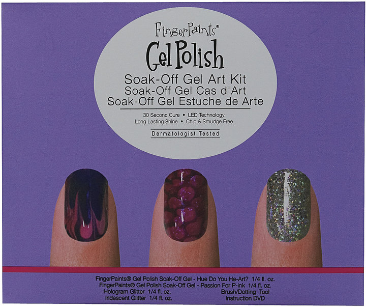 FingerPaints Soak-Off Gel Polish Nail Art Kit