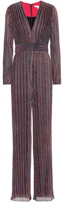 Jonathan Simkhai Metallic striped jumpsuit
