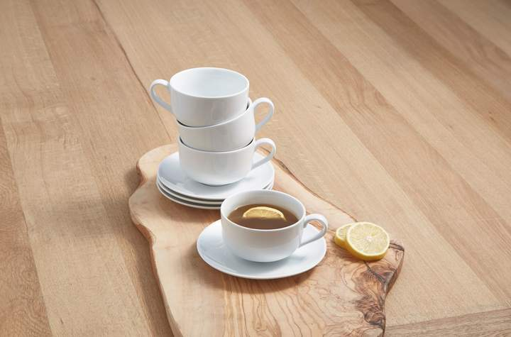 Linea Luna set of 4 porcelain cup & saucer