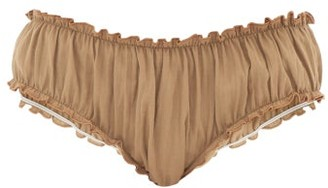 Loup Charmant Bloomer Organic-cotton Briefs - Womens - Brown