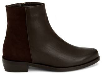 Aquatalia Gabriele Leather & Suede Ankle Boots