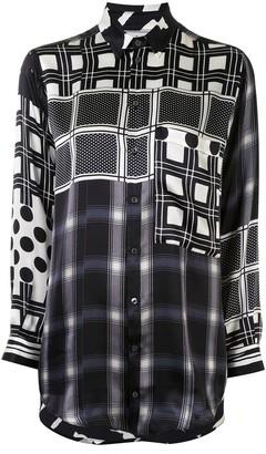 Pierre Louis Mascia Mixed-Print Silk Shirt