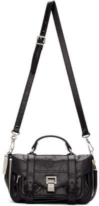 Proenza Schouler Black Tiny Zip PS1 Messenger Bag