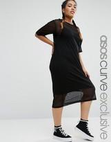 Asos Mesh T-Shirt Dress with Cami Slip