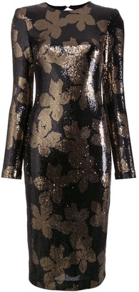 Rebecca Vallance Sequin Embellished Fitted Dress