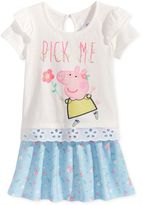 Nickelodeon Nickelodeon's Peppa Pig 2-Pc. Embellished Top and Skirt Set, Little Girls (4-6X)