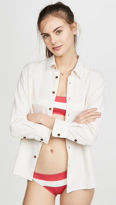 Solid & Striped Linen Button Down