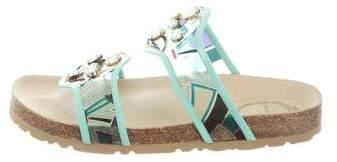 Emilio Pucci Embellished Slide Sandals w/ Tags