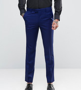 Farah Skinny Suit Pants In Blue
