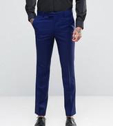 Farah Skinny Suit Trousers In Blue