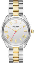 Kate Spade Women's Crosstown Two-Tone Stainless Steel Bracelet Watch 34mm KSW1062
