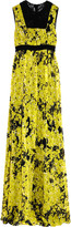 Giambattista Valli Embroidered printed silk-chiffon gown