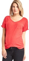 Gap Slub roll sleeve tee