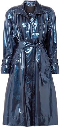 Marc Jacobs Gathered Metallic Vinyl Trench Coat