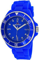 Seapro Sea Bubble Womens Blue Silicone Strap Watch