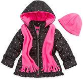 Pink Platinum Heavyweight Star Puffer Jacket - Girls-Toddler