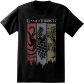 Novelty T-Shirts Game of Thrones Torn Banners Short-Sleeve Graphic Tee