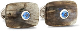 Trianon 18-Karat White Gold, Labradorite And Sapphire Cufflinks