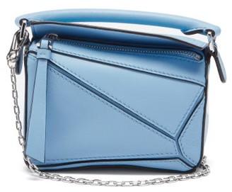 Loewe Puzzle Nano Leather Cross-body Bag - Light Blue